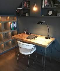 industrial hairpin leg desk industrial chic reclaimed custom hairpin leg desk table bar