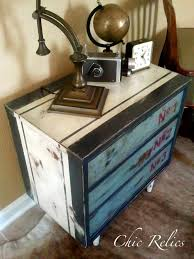 mid modern industrial nightstand with numbered drawers chic relics