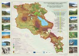 Map Of Armenia Specially Protected Nature Areas And Forests Of Armenia U201d Brochure
