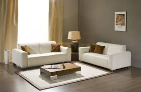 Calm Colors For Living Room Silver Table Lamp On Tiny End Table Beside White Couch Front Big