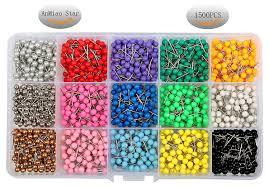 map tacks well wreapped anmiao 1500 pieces 1 8 inch map tacks pushpins