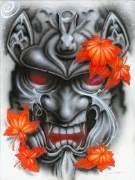 hannya mask samurai tattoo tattoo art