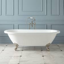 zoey acrylic clawfoot tub imperial feet bathroom