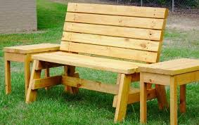 Wooden Bench Designs Creative Idea Simple Brown Pallet Summer Outdoor Bench With