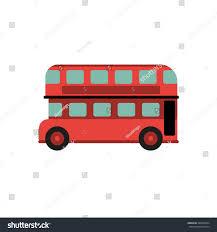 Double Decker Bus Floor Plan Red Retro City Double Decker Bus Stock Vector 386667604 Shutterstock