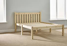 heavy duty wooden pine bed frame 135cm by 190cm shaker style