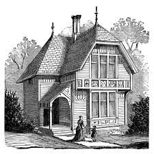 two story victorian cottage free clip art image old design