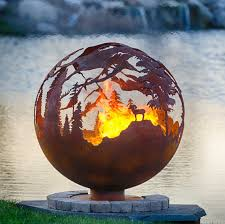 Sphere Fire Pit by High Mountain Fire Pit 37 Custom Outdoor Hand Cut