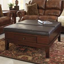 overstock ottoman coffee table signature designs by ashley gately medium brown ottoman cocktail