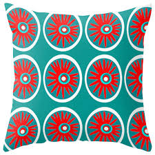 modern outdoor pillow and turquoise contemporary outdoor