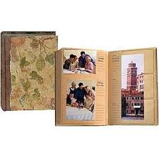 eco paper autumn leaves album holds 300 4x6 4x12