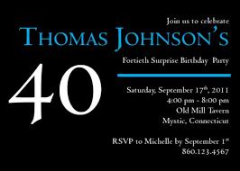 40th birthday invitations templates ideas invitations ideas