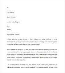 free sample character recommendation letters oshibori info