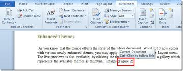 how to cite a table in apa insert captions cross references in word 2010