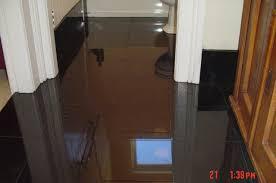 black floor tiles bathroom