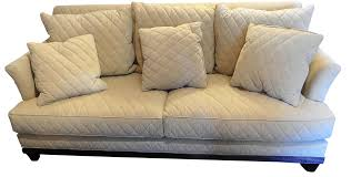 henredon duck feather tuscan quilted sofa chairish