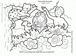 god made everything coloring page coloring home