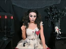 Broken Doll Halloween Costume Creepy Stitched Doll Makeup