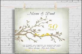 50 wedding anniversary gifts 50th wedding anniversary gifts for parents evgplc