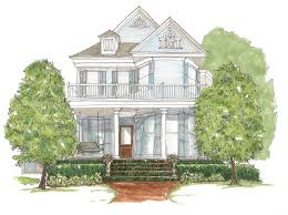 custom house portrait made to order illustrated house