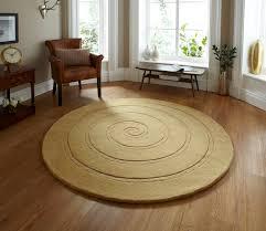 Round Rugs Modern spiral hand tufted 100 wool circular rug modern textured round