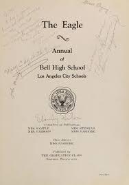cbell high school yearbook explore 1929 bell high school yearbook bell ca classmates