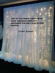 backdrops for sale 12 ft wide led backdrop lights with voile organza drapes led