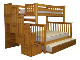 Bunk Beds  Twin Over Full Futon Bunk Bed Under Stairs Closet - Trundle bunk bed with desk