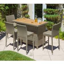 Garden Bar Table And Stools Outdoor Patio Bar Set 3 Piece Furniture Wicker Stools Pool Deck