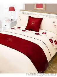 Red Bedding Red Floral 5 Piece Bedding Set Bedding Uk