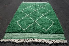 green beni ourain soft rug teppich authentic handmade moroccan