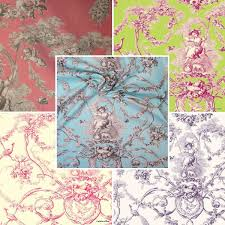 Toile De Jouy Decoration Yvette Fabric By The Meter