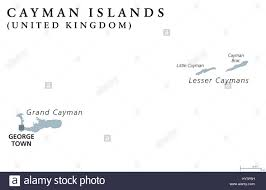 Grand Cayman Map Cayman Islands Political Map With Capital George Town British