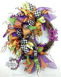 deco mesh halloween wreath trick or treat by www