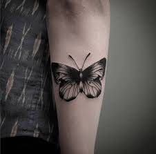 28 beautiful black and grey butterfly tattoos piercings
