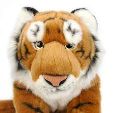 amazon com fao schwarz 19 inch plush tiger orange and black