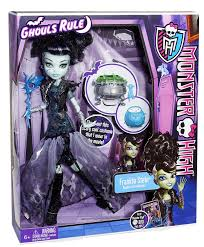 amazon com monster high ghouls rule frankie stein doll toys u0026 games