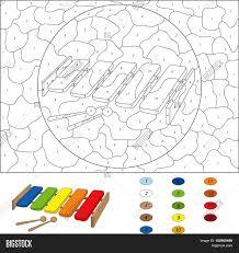 cartoon xylophone coloring book vector u0026 photo bigstock