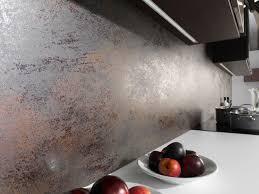 catelles cuisine carrelage mural pour cuisine 2 plan de travail effet metal gris