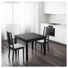 Dining Room Ikea Bjursta Extendable Table Brown Black 90 129 168x90 Cm Ikea