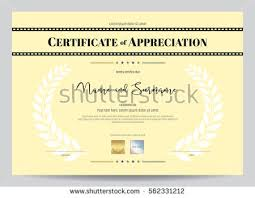 sample text for certificate of appreciation certificate appreciation template movie film stripe stock vector