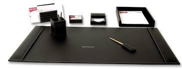 Black Leather Desk Mat Montblanc Desk Accessories Fourhundred Media