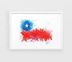 Chile National Flag Chile Flag Copa America 2016 A3 Wall Art Print Poster Of The