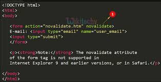 html input pattern safari html tutorial novalidate attribute in html html5 html code
