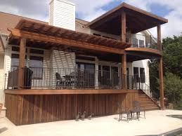 Building A Hip Roof Patio Cover by Gorgeous Tigerwood Deck With Metal Framing Cedar Pergola And Hip