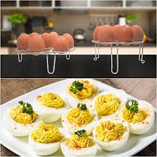 deviled egg holder instant pot egg rack steamer 14 eggs stackable 2 tier best