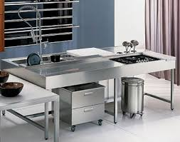 stainless steel kitchen island for futuristic look kitchenidease com