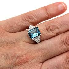 blue london rings images London blue topaz and diamond ring vintage ring art deco ring jpg