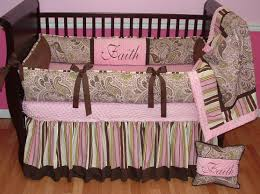 Monkey Crib Bedding Sets Avery Pink Paisley Crib Set This Custom Baby Crib Bedding Set