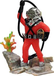 penn plax air diver with hose aerating aquarium ornament 4